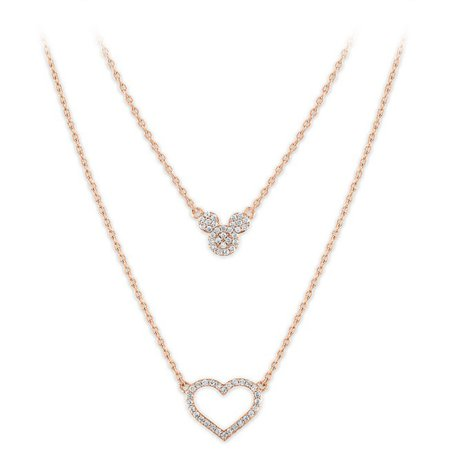 Mickey Mouse Icon and Heart Layered Necklace | shopDisney
