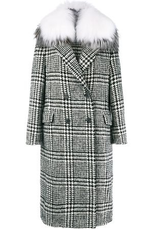 ERMANNO SCERVINO Checked double breasted coat