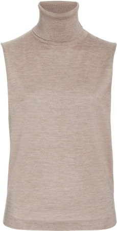 The Row Becca Sleeveless Cashmere Silk Top