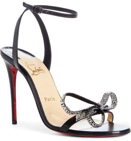 Christian Louboutin Ankle Strap Bow Sandal (Women) | Nordstrom