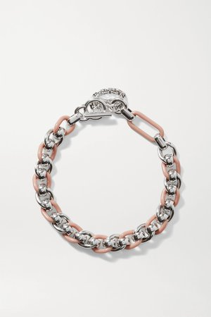 Silver Silver-tone and resin necklace | Bottega Veneta | NET-A-PORTER