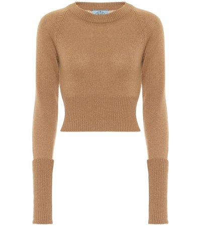 Ribbed-Knit Cashmere Sweater - Prada | Mytheresa
