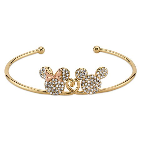 Mickey and Minnie Mouse Bracelet with Crystals | shopDisney