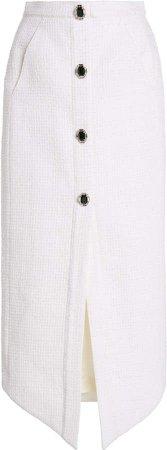 David Koma Embroidered Pencil Skirt