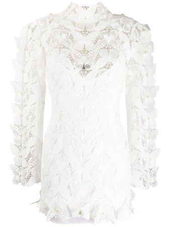 David Koma butterfly lace dress