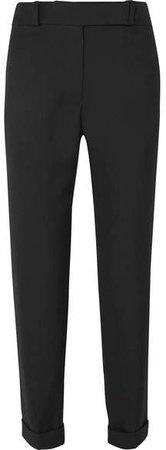 Wool Straight-leg Pants - Black