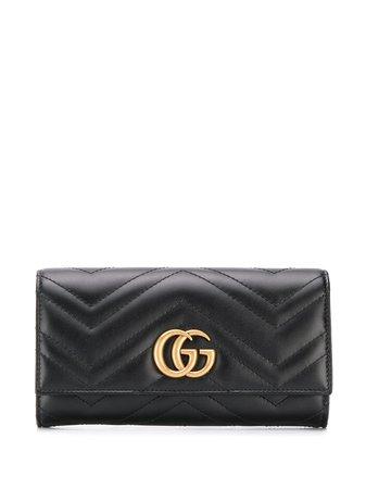 Gucci Cartera Continental GG Marmont - Farfetch