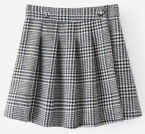 pleased houndstooth print skirt