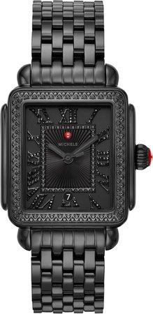 Deco Madison Diamond Dial Watch Head & Bracelet, 33mm