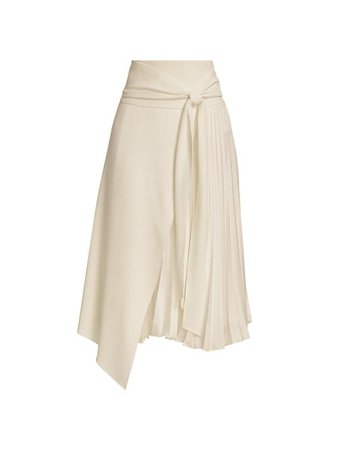 Alice + Olivia Zabana Asymmetrical Midi Skirt | SaksFifthAvenue