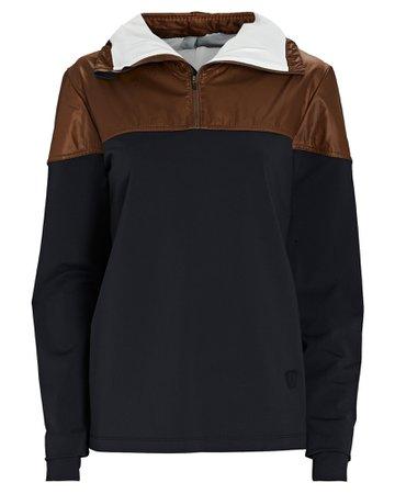 VAARA Jamie Half-Zip Hooded Sweatshirt | INTERMIX®