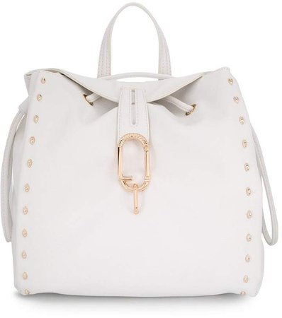 logo plaque stud-embellished backpack