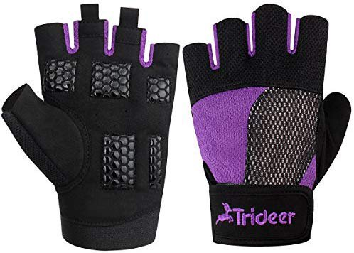 Amazon.com : Trideer Weight Lifting Gloves, Breathable & Non-Slip, Workout Gloves, Exercise Gloves, Padded Gym Gloves for Climbing, Boating, Dumbbells, Cross Training : Sports & Outdoors