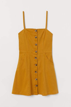 Fitted Dress - Yellow