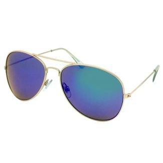 Women's Aviator Sunglasses W/ Blue Lenses - Wild Fable™ Gold : Target