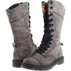 Doc Martens Grey Triumph Lace-Up Boots