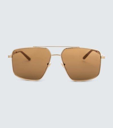 Gucci - Metal aviator sunglasses | Mytheresa