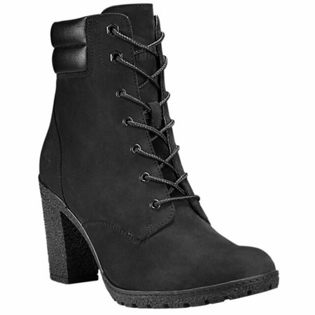 Timberland Women's Tillston High Heel Black Leather Boots Style A1H1I for sale online