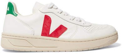 V-10 Leather Sneakers - White