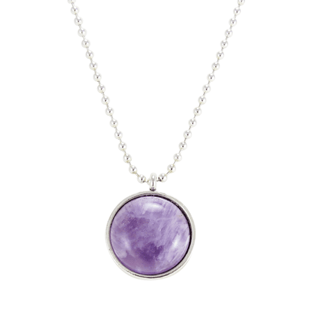 Light Purple Amethyst Gemstone Necklace, Crystal Stone Pendant – CellsDividing