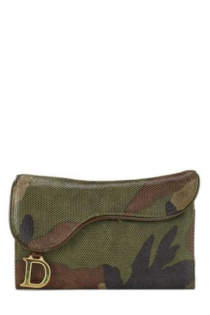 Christian Dior Green Camouflage Wallet - What Goes Around Comes Around