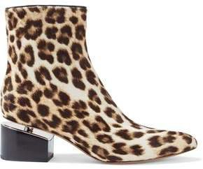 Jude Leopard-print Calf Hair Ankle Boots