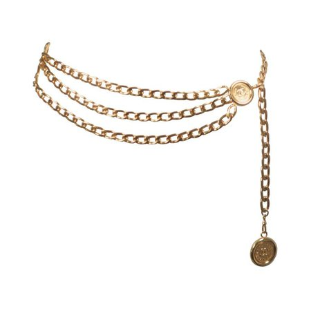 Chanel | gold tone triple chain belt