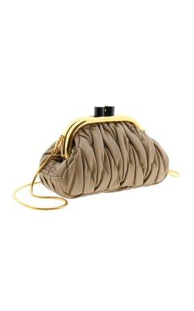 Matelasse Leather Clutch By Miu Miu   Moda Operandi