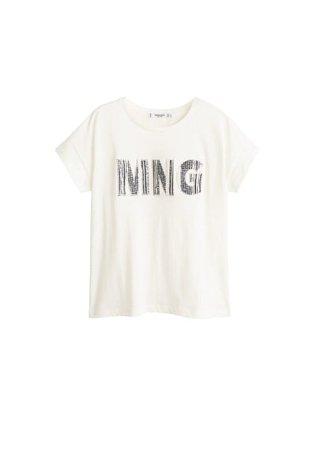 MANGO Embroidered logo t-shirt