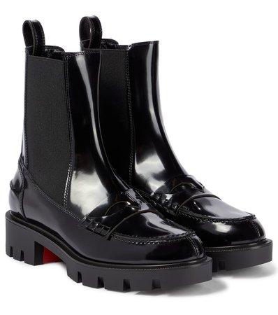 Christian Louboutin - Montezu leather ankle boots | Mytheresa