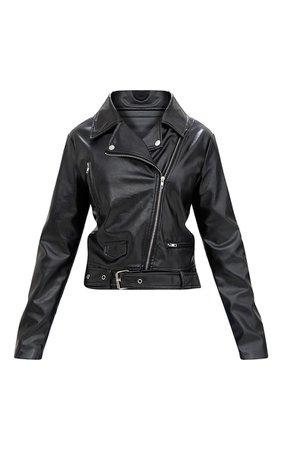 Polie Black Pu Biker Jacket | Coats_Jackets | PrettyLittleThing