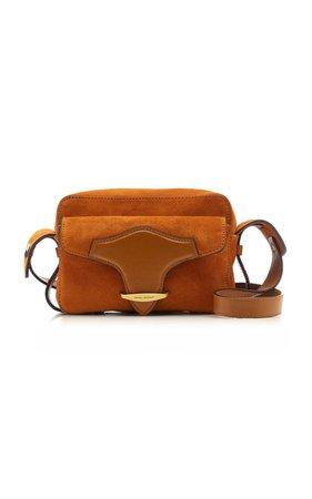 Wasy Leather-Trimmed Suede Shoulder Bag by Isabel Marant | Moda Operandi