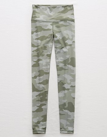 Aerie MOVE High Waisted Camo Legging, Slab Gray | American Eagle Outfitters