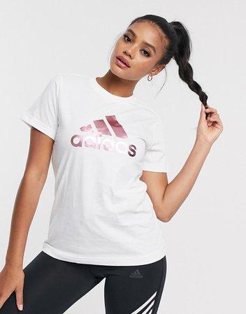 adidas Training logo t-shirt in white | ASOS