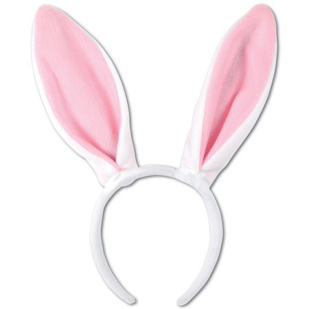 (12/Case) Beistle Easter Party Soft-Touch Bunny Ears - Bulk Party Supplies