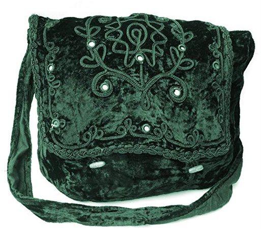 Gothic Victorian Renaissance Girls Punk Vintage Vamp Costume Green College Shoulder Bag: Amazon.co.uk: Shoes & Bags