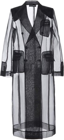Dolce & Gabbana Sheer Double Breasted Coat Size: 38