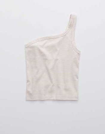 Aerie Tanlines Tank ivory