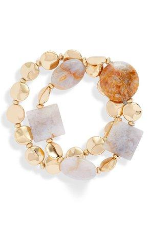Halogen® Molten Bead Stretch Bracelet | Nordstrom
