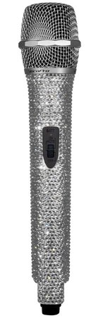 Silver Diamond Microphone