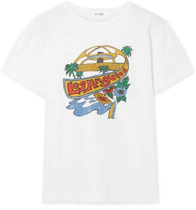 Classic Printed Cotton-jersey T-shirt - White