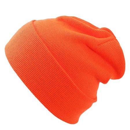 Cap911 Unisex Plain 12 inch long Beanie - Many Colors (One Size, Dark Orange) at Amazon Women's Clothing store: