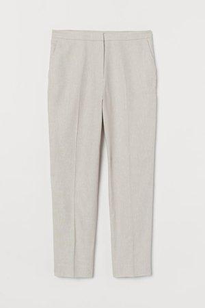 Slacks - Light beige - Ladies   H&M US
