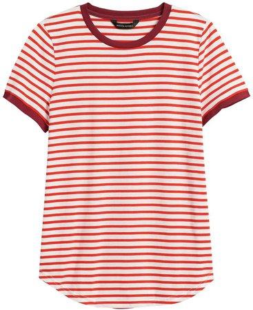 SUPIMA Cotton Ringer T-Shirt