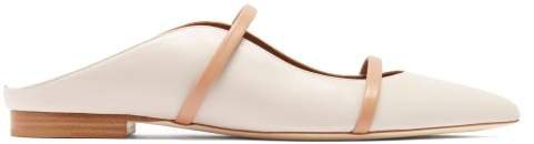 Maureen Leather Backless Loafers - Womens - Cream