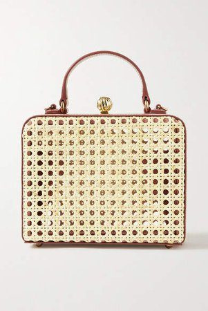 Mehry Mu - Luna Leather And Rattan Tote - Neutral