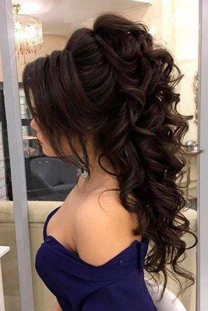 prom hair braun