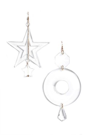 Gave Two Options Earrings - Clear