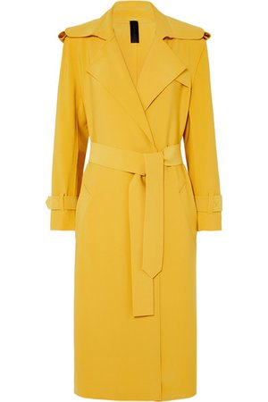 Norma Kamali | Belted cady trench coat | NET-A-PORTER.COM