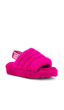 UGG Fluff Yeah Slide in Rock Rose | REVOLVE